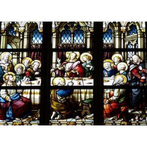 絵画風 壁紙ポスター  最後の晩餐 イエス・キリスト レオナルド・ダ・ヴィンチ キャラクロ SGB-004A2 (A2版 594mm×420mm)|real-inter