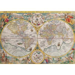 絵画風 壁紙ポスター  世界地図 古代 アンティーク キャラクロ WMP-002A1 (A1版 830mm×585mm)|real-inter