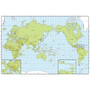 絵画風 壁紙ポスター  世界地図 メルカトル図法 キャラクロ WMP-006S2 (603mm×404mm)|real-inter