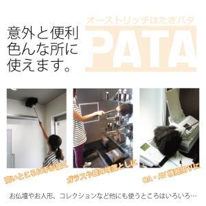 松本羽毛 オーストリッチはたきPATA(パタ)/ダチョウ 羽根 掃除 ハタキ ホコリ取り 高級 毛ばたき 手作り 日本製 ダスター/|real-np|05