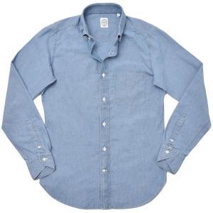 BOLZONELLA ボルゾネッラ コットン シャンブレー ボタンダウンカラーシャツ|realclothing