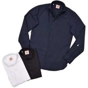 GUY ROVER ギローバー コットン ストレッチ ポプリン ワイドカラーシャツ|realclothing