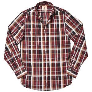 GUY ROVER ギローバー コットン リネン マドラスチェック ボタンダウンカラーシャツ|realclothing