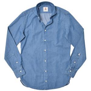 GUY ROVER ギローバー コットン シャンブレー ワイドカラーシャツ|realclothing