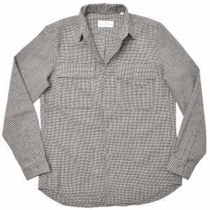 Massimo d'Augusto マッシモ ダウグスト TEO ウール フランネル ハウンドトゥース CPOシャツジャケット|realclothing