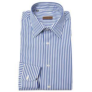 Stile Latino スティレ ラティーノ コットン ブロード ロンドンストライプ セミワイドカラー ドレスシャツ|realclothing