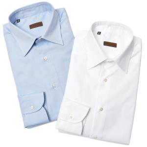 Stile Latino スティレ ラティーノ コットン ロイヤルオックスフォード セミワイドカラー ドレスシャツ|realclothing