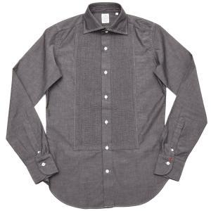 BOLZONELLA(ボルゾネッラ)コットン シャンブレー レギュラーカラー ブザムシャツ|realclothing