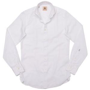 GUY ROVER(ギローバー)コットン ジャガード ワイドカラーシャツ|realclothing