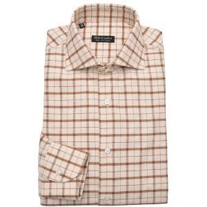 Stile Latino スティレ ラティーノ コットン フランネル ネップ チェック ワイドカラー ドレスシャツ【SALE 30%OFF】|realclothing
