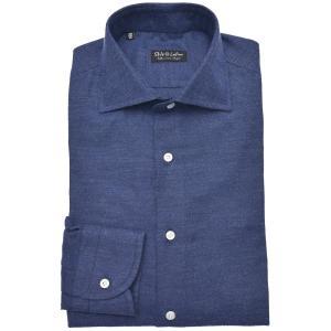 Stile Latino スティレ ラティーノ コットン フランネル メランジ ワイドカラー ドレスシャツ【SALE 30%OFF】|realclothing