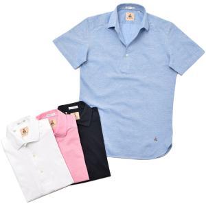 GUY ROVER ギローバー コットン 鹿の子 イタリアンカラー ポロシャツ realclothing