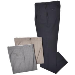 Rota ロータ ヴァージンウール トロピカル サイドアジャスター 2プリーツ ドレスパンツ|realclothing