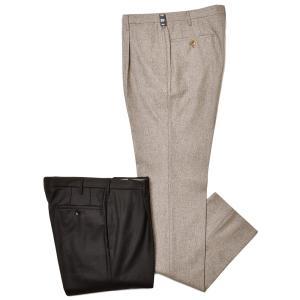 Rota ロータ ヴァージンウール フランネル メランジ 1プリーツ ドレスパンツ|realclothing