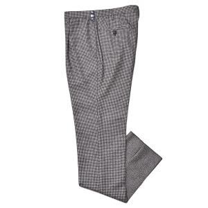 Rota ロータ ヴァージンウール フランネル ハウンドトゥース 1プリーツ ドレスパンツ|realclothing