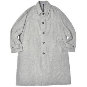 Stile Latino スティレ ラティーノ カシミヤ フランネル シングルブレスト ロングコート YAMAL|realclothing