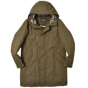 MOORER ムーレー MARCO-WCO ポリエステル コットン フーデッド シングルコート|realclothing