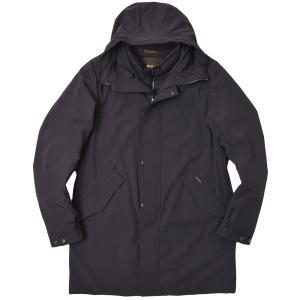 MOORER ムーレー GORZANO-GS ナイロン ストレッチ インナーダウン付き フーデッド 3WAY シングルコート|realclothing