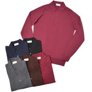 JOHN SMEDLEY ジョンスメドレー DORSET メリノウール 30ゲージ ニット ポロシャツ EASY FIT realclothing