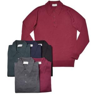 JOHN SMEDLEY ジョンスメドレー DORSET メリノウール 30ゲージ ニット ポロシャツ EASY FIT|realclothing