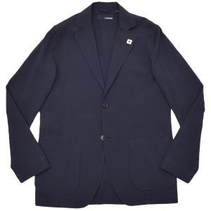 LARDINI ラルディーニ AMAJ コットン シアサッカー ソリッド シングル2Bシャツジャケット|realclothing