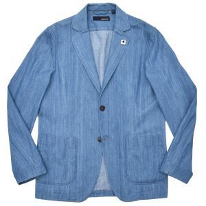 LARDINI ラルディーニ AMAJ コットン シャンブレー シングル2Bシャツジャケット|realclothing