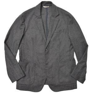 giab's ARCHIVIO ジャブスアルキヴィオ STROZZI ウォッシャブルウール ライトフランネル ストレッチ セットアップ シングル2Bジャケット realclothing