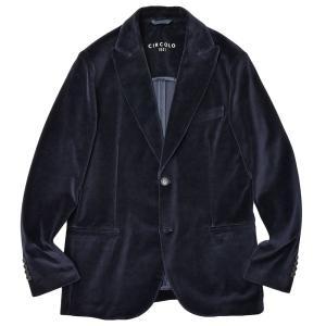 CIRCOLO 1901 チルコロ1901 コットン ストレッチ ジャージー ベルベット ピークドラペル シングル2Bジャケット realclothing