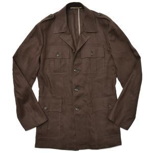 Stile Latino スティレ ラティーノ ALGERI リネン コットン サファリシャツジャケット|realclothing