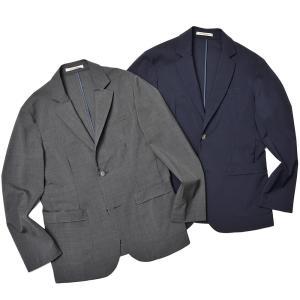 giab's ARCHIVIO ジャブスアルキヴィオ STROZZI ニューテクノウール ストレッチ セットアップ対応 シングル2Bジャケット|realclothing