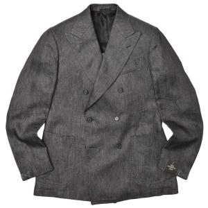 TITO ALLEGRETTO ティト アレグレット リネン ブラックデニム ダブル6Bジャケット|realclothing