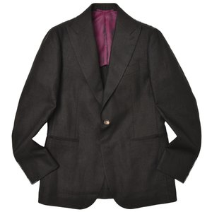 STILE LATINO スティレ ラティーノ リネン ピークドラペル シングル2Bジャケット LEO|realclothing