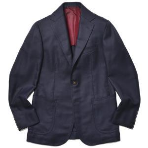 STILE LATINO スティレ ラティーノ ウール ラムズウール カシミヤ ホップサック シングル3Bジャケット VINCENZO|realclothing