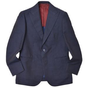 STILE LATINO スティレ ラティーノ リネン コットン ソラーロ ピークドラペル シングル2Bジャケット LEO|realclothing