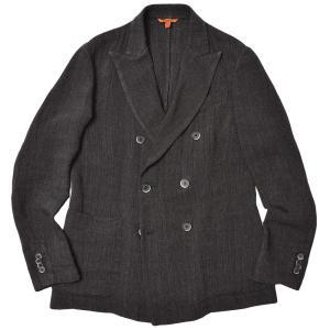BARENA バレナ レーヨン リネン ジャガード セットアップ対応 ダブル6Bジャケット|realclothing