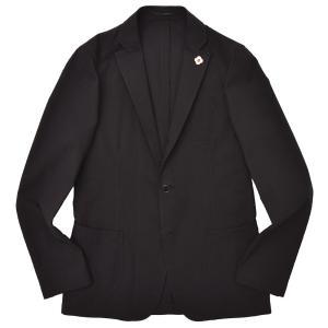 LARDINI(ラルディーニ)コットン シアサッカー ソリッド シングル3Bシャツジャケット|realclothing