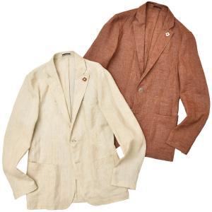 LARDINI(ラルディーニ)リネン メランジ シングル3Bシャツジャケット|realclothing