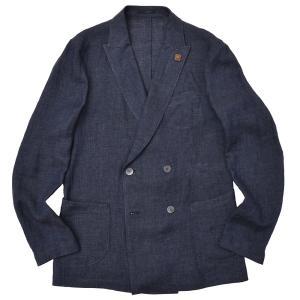LARDINI(ラルディーニ)リネン メランジ ダブル4Bシャツジャケット realclothing