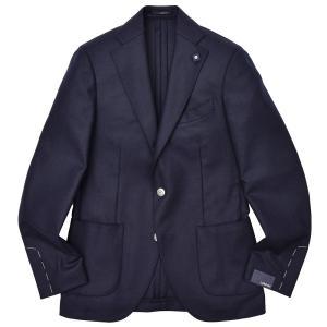 LARDINI(ラルディーニ)ラムズウール ホップサック メタルボタン シングル3Bジャケット|realclothing