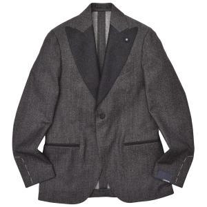 LARDINI(ラルディーニ)コットン ウール ナイロン ストレッチ デニム タキシード スモーキングジャケット|realclothing