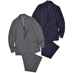 Gabo ガボ NEW NAPOLI ウール フレスコ 1プリーツ シングル3Bスーツ|realclothing