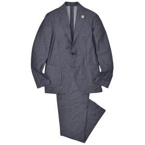 LARDINI ラルディーニ EASY コットン ポリエステル ジャージー ドローコード 1プリーツ シングル3Bスーツ|realclothing