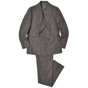 Stile Latino スティレ ラティーノ アルパカ ウール カシミヤ フランネル 1プリーツ ダブル6Bスーツ LEO realclothing