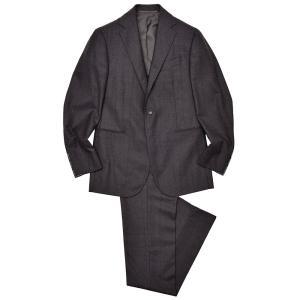 Stile Latino スティレ ラティーノ ヴァージンウール メランジ グレンチェック 1プリーツ シングル3Bスーツ|realclothing