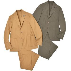 LARDINI(ラルディーニ)EASY WEAR コットン ストレッチ パッカブル 1プリーツ シングル3Bスーツ|realclothing