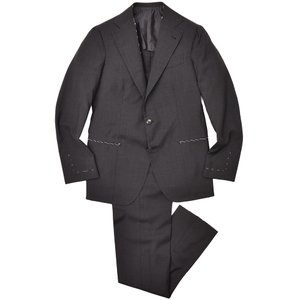 Alfonso Sirica(アルフォンソ シリカ)ウール トロピカル メランジ 1プリーツ シングル3Bスーツ|realclothing