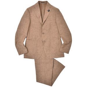 LARDINI(ラルディーニ)EASY リネン テンセル ドローコード 1プリーツ シングル3Bスーツ|realclothing