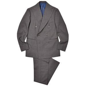 Stile Latino(スティレ ラティーノ)ウール トロピカル メランジ 1プリーツ ダブル6Bスーツ|realclothing