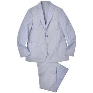 LARDINI(ラルディーニ)EASY WEAR コットン ポリエステル コードレーン パッカブル 1プリーツ シングル3Bスーツ|realclothing