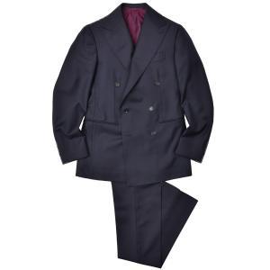 Stile Latino(スティレ ラティーノ)ウール ツイル 1プリーツ ダブル6Bスーツ|realclothing